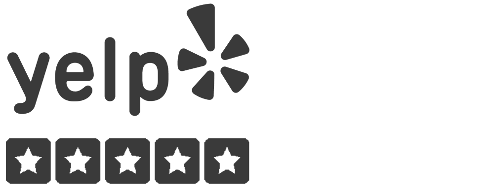 Yelp logo 5 stars wide black left.png