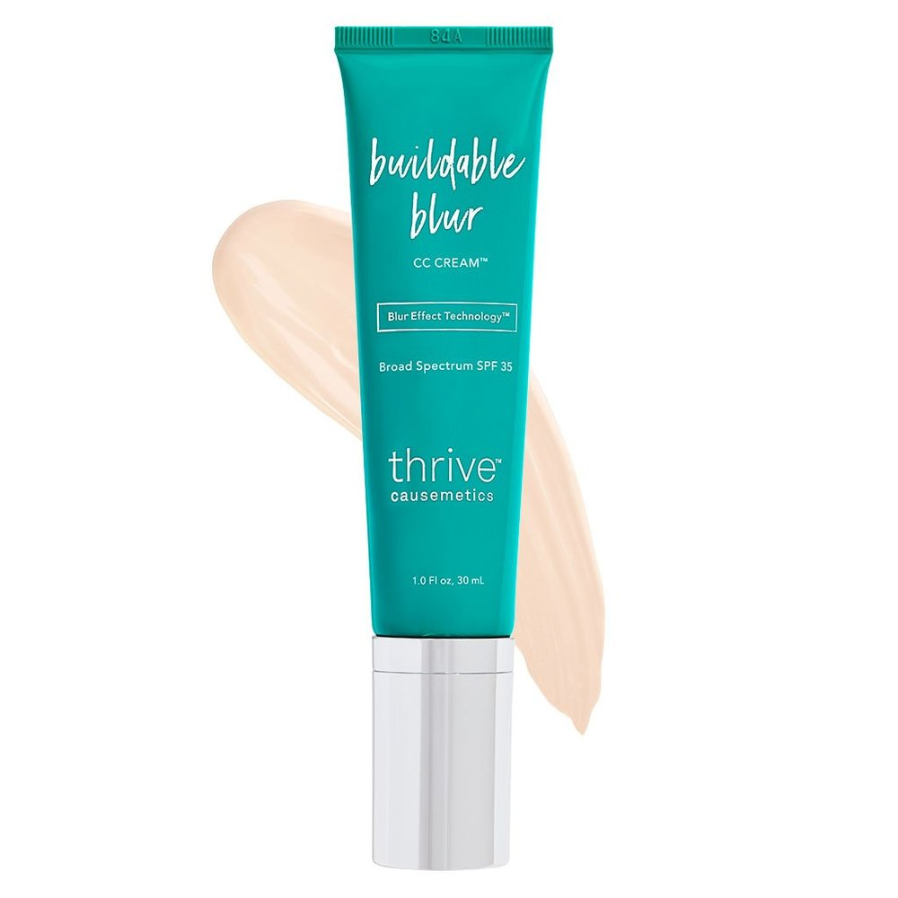 BUILDABLE BLUR CC CREAM™ BROAD SPECTRUM SPF 35 - WHAT IT IS: - Color-corrects, diffuses imperfections and protects with SPF. With Vitamin C it helps conceal fine lines, pores and dark spots.A PORTION OF THE PROFITS IN MARCH WILL BE DONATED TO SHE'S THE FIRST