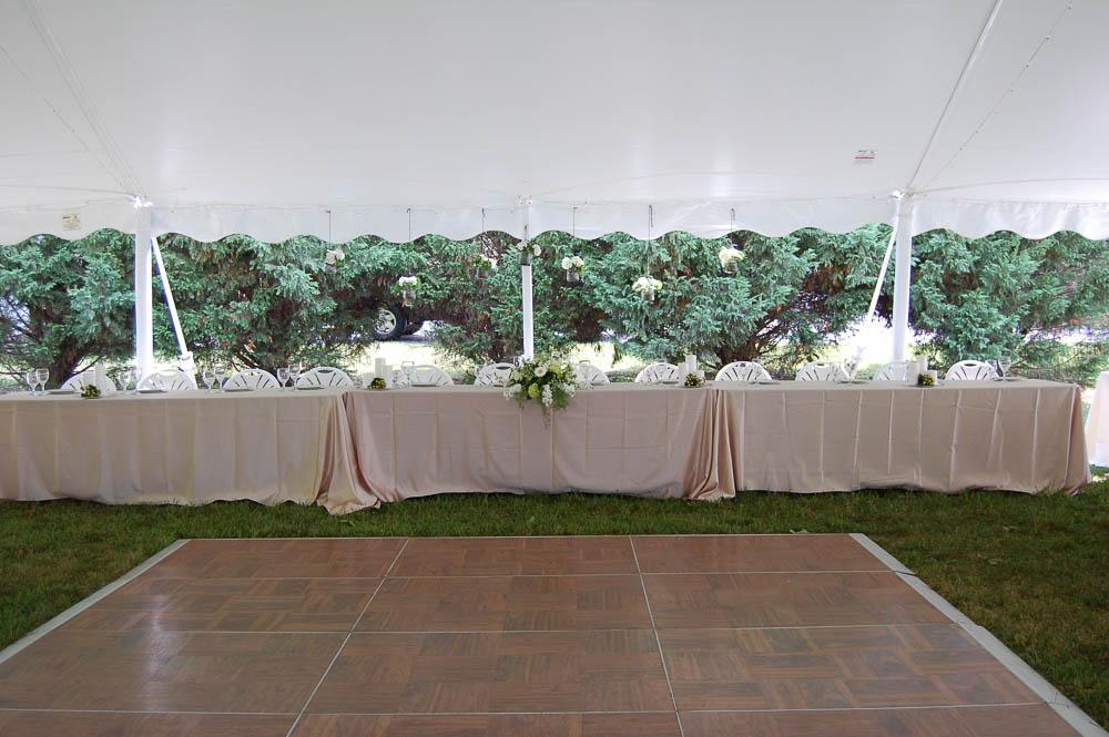 Head Table and Dance Floor