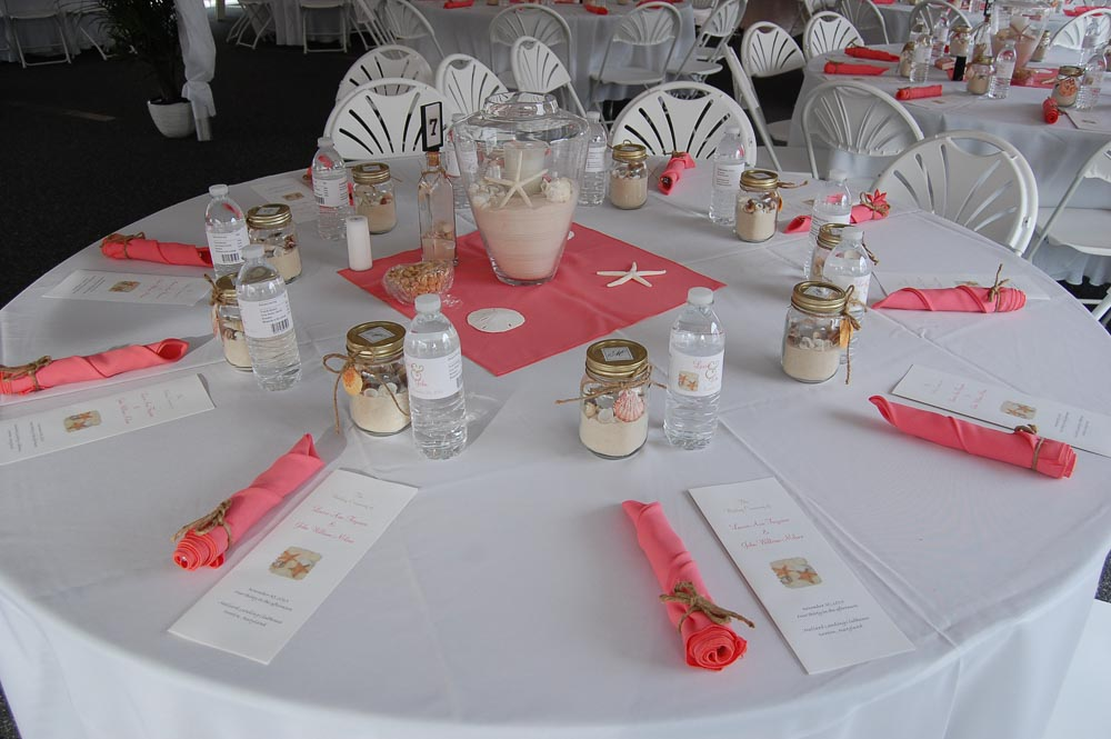 Beach Themed Wedding Table