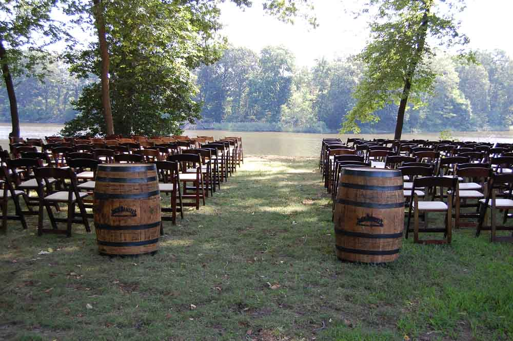 Whiskey Barrel, Fruitwood Chair Ceremony