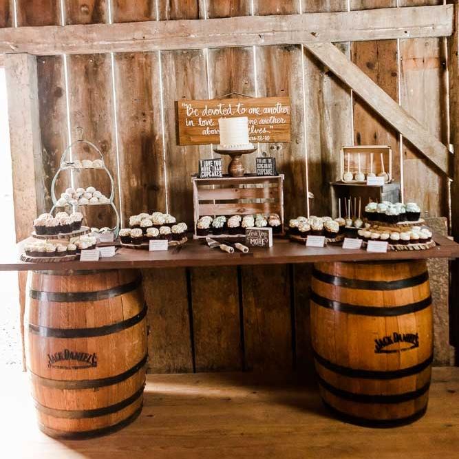Vintage Whiskey Barrel Table
