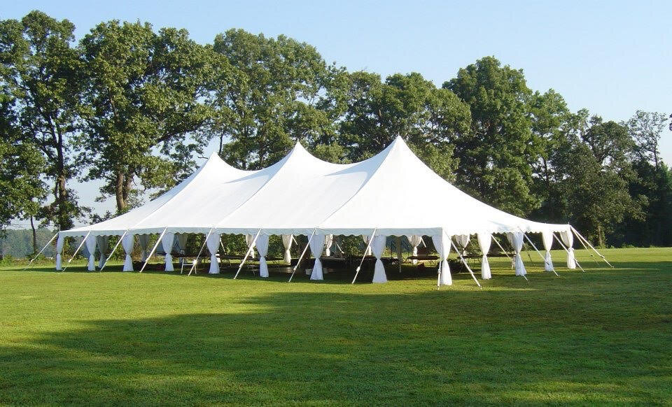 Add elegant to your tent with leg skirts