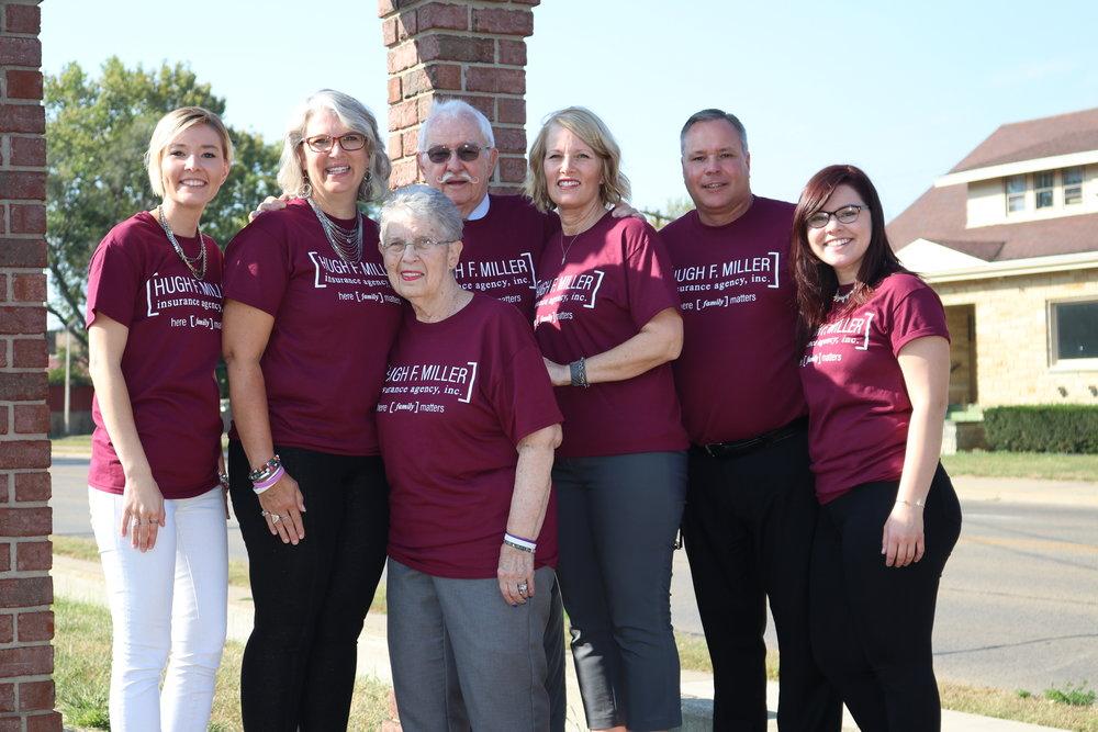 Hugh F Miller Insurance Agency Staff 30th Anniversary