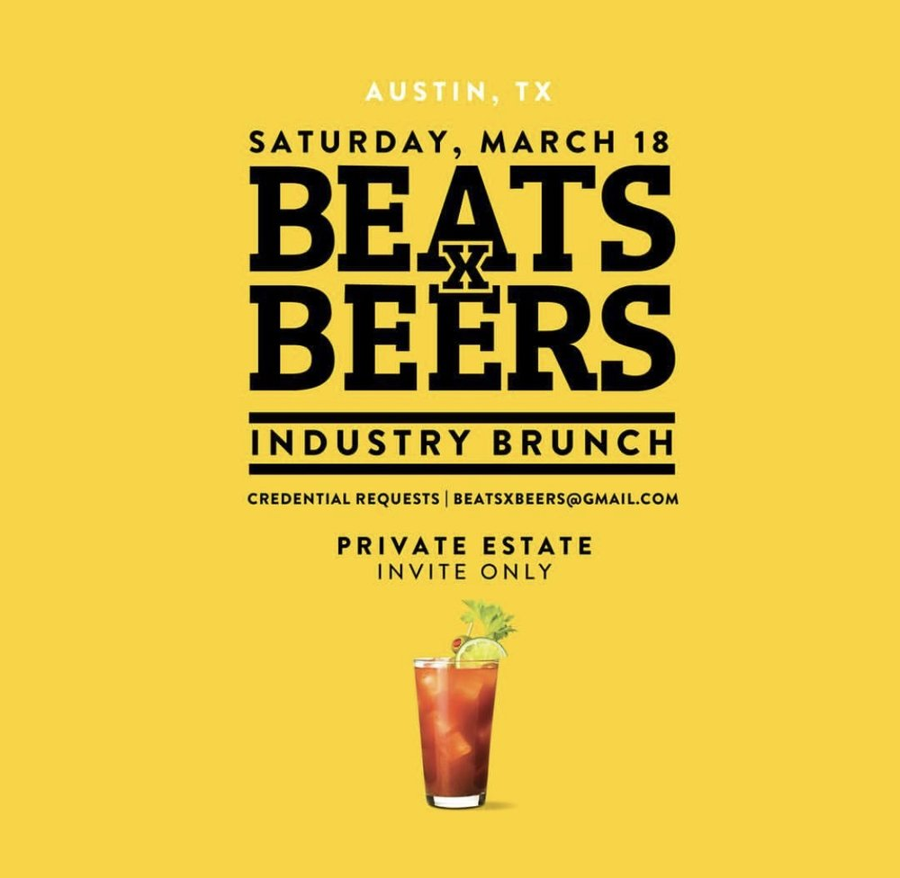 Beats x Beers Industry Brunch - Austin, TX