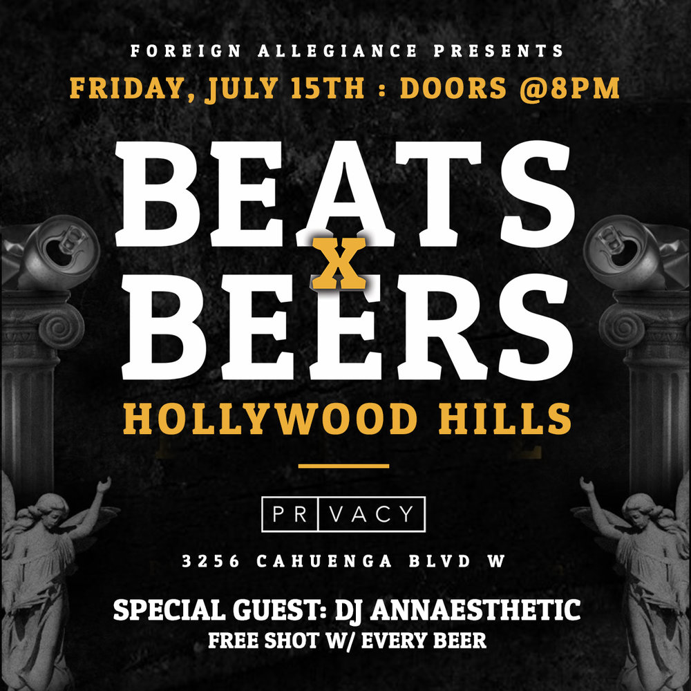 Beats x Beers Party - Hollywood