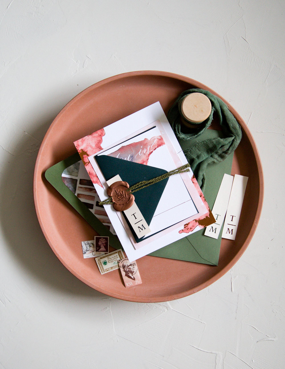 Terracotta Desert Invitation Suite Packaging