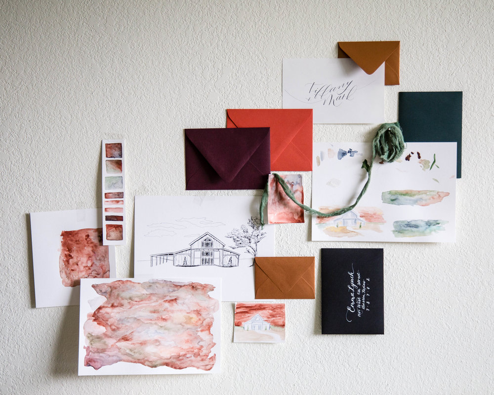 Autumn Invitation Suite Inspiration Board