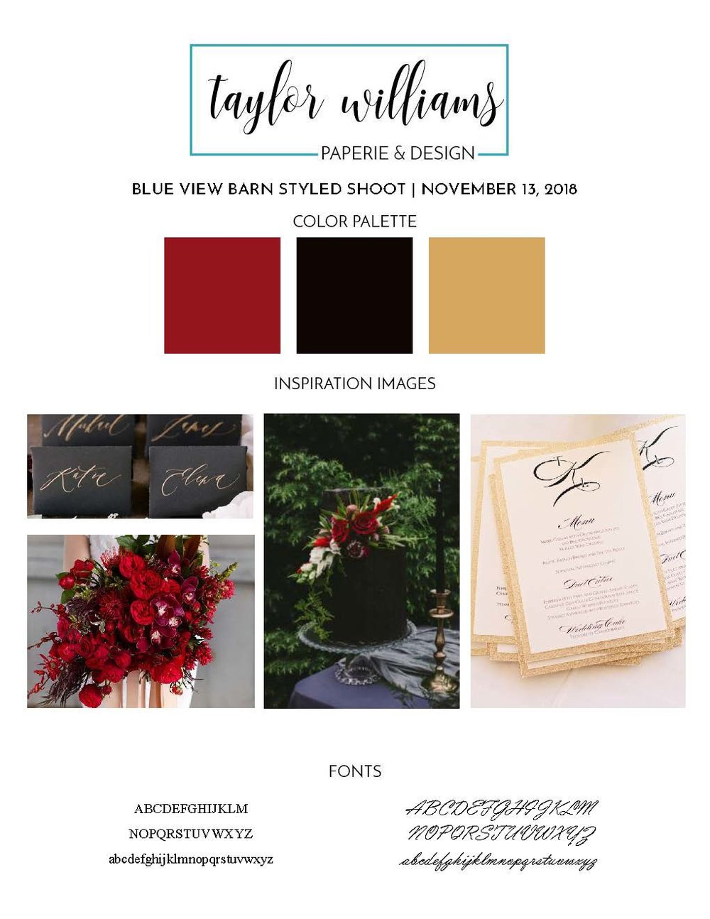 VENDORS - Event Planner: Corinne ValentinePhotographer: Chynna Pacheco PhotographyInvitation Suite: Yours Truly!Florist: Golden Petal Designs  Dress: The Collection BridalHair & Makeup: Bee Kenric  Rentals: A Chair Affair Inc.Venue: Blue View Barn