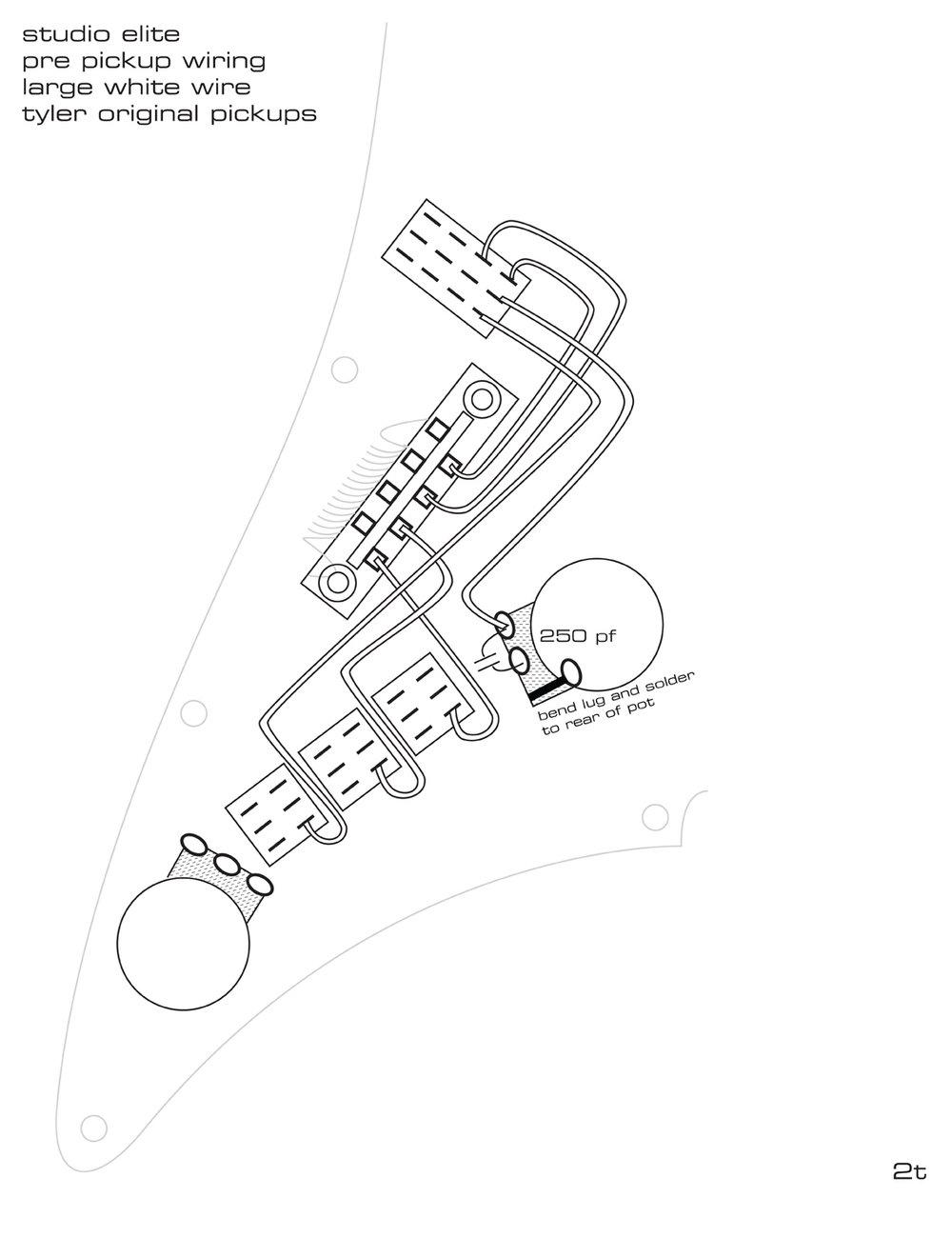 Pickguard Wiring Diagrams James Tyler Guitars Original Stratocaster Diagram Se Jto System Manual Page 2