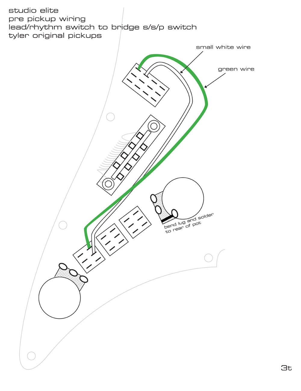Pickguard Wiring Diagrams — James Tyler Guitars
