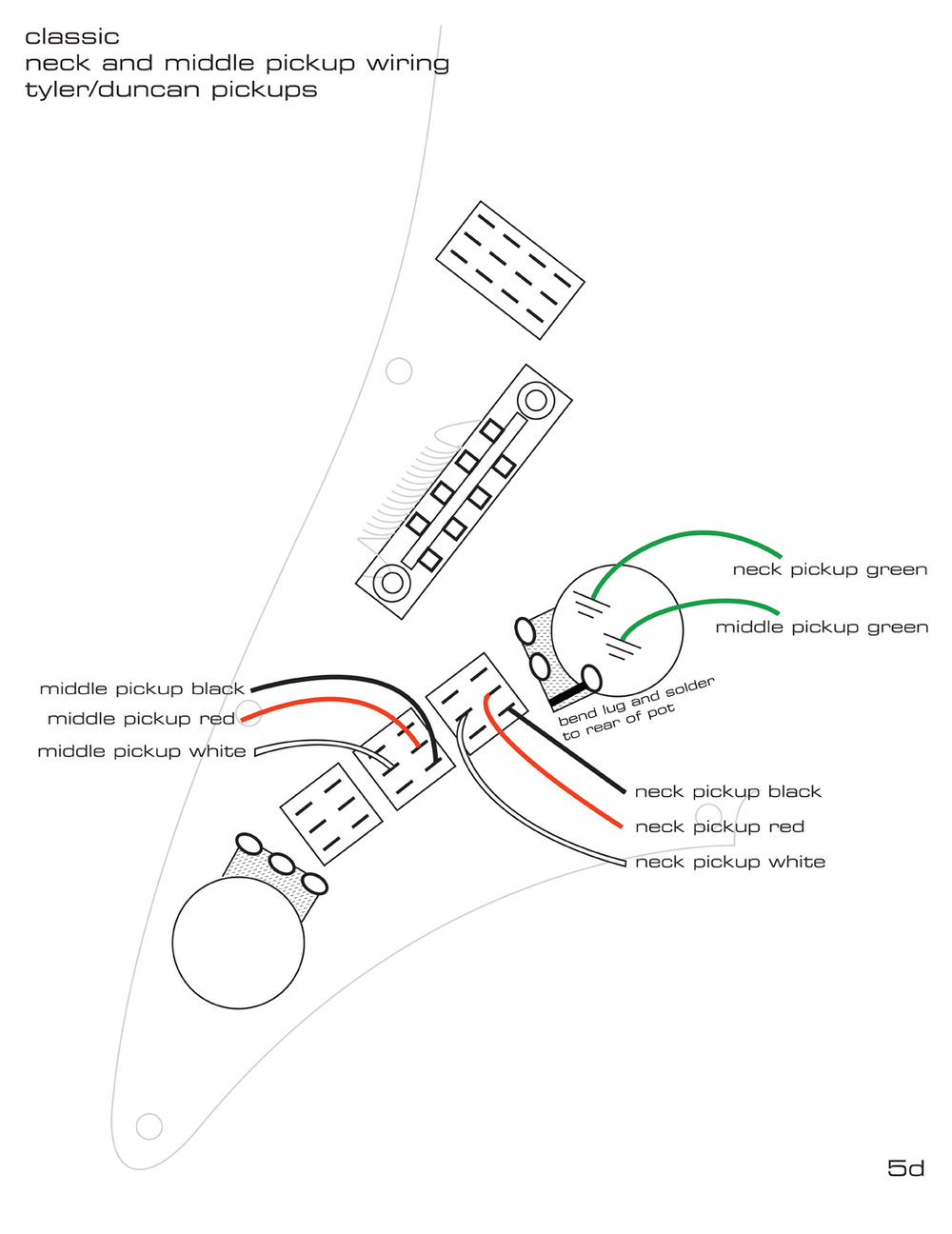pickguard wiring diagrams james tyler guitars rh tylerguitars com Basic Electrical Wiring Diagrams 3-Way Switch Wiring Diagram