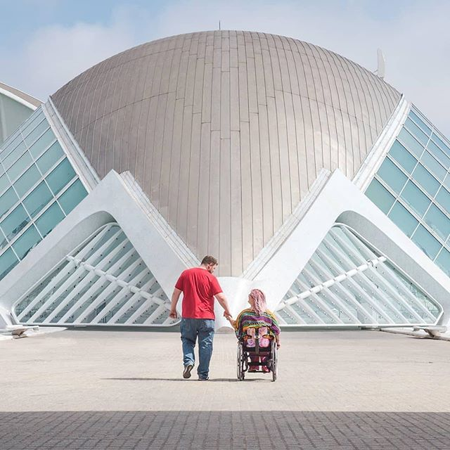 "Reposting @globehopperguides:⠀ ...⠀ ""We are grateful for our amazing month in Valencia with @digitalroamads, and grateful for each other 🌎❤️ thank you to @weownthemoment and @travelsofsophie for all your skills with this photo! #valencia #ciuatdelesciencies  #espana #spain #digitalnomads #freelance #freedom #newexperiences #newchapter #whatsnext #instapassport #instatravel #instalove #coupleswhotravel #wehaveeachother #holdinghands #wanderlust #tbex #pathfinder #traveltheworld #travelphotography #igtravel #exploremore #accessibletravel #globehopperguides #ghg"""