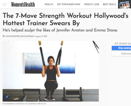 The 7-Move Strength Workout Hollywood's Hottest Trainer Swears By -