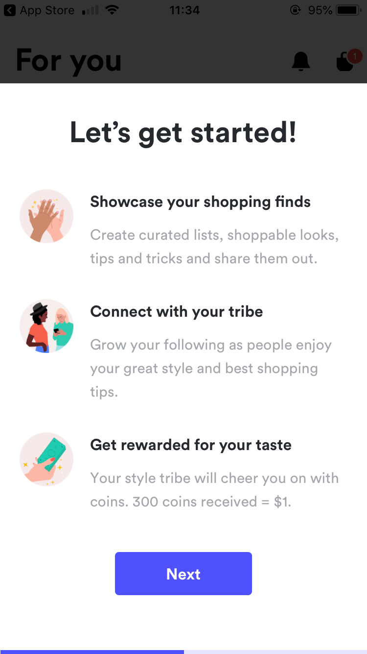 retail app copywriting