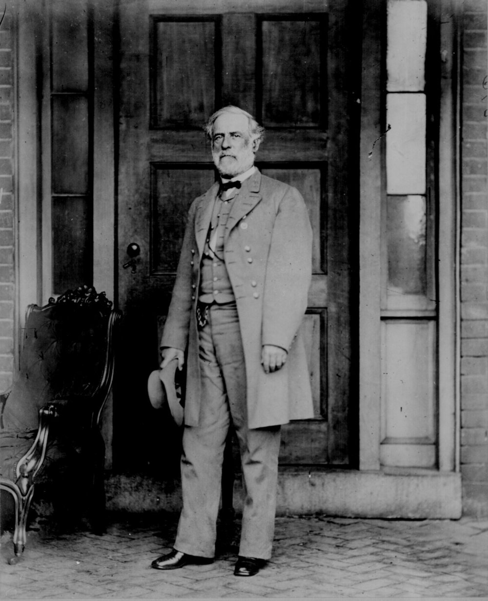 General Robert E. Lee, C.S.A., a week after surrendering the Army of Northern Virginia to General Ulysses S. Grant, effectively ending the American Civil War - April 16, 1865 - Mads 2.jpg