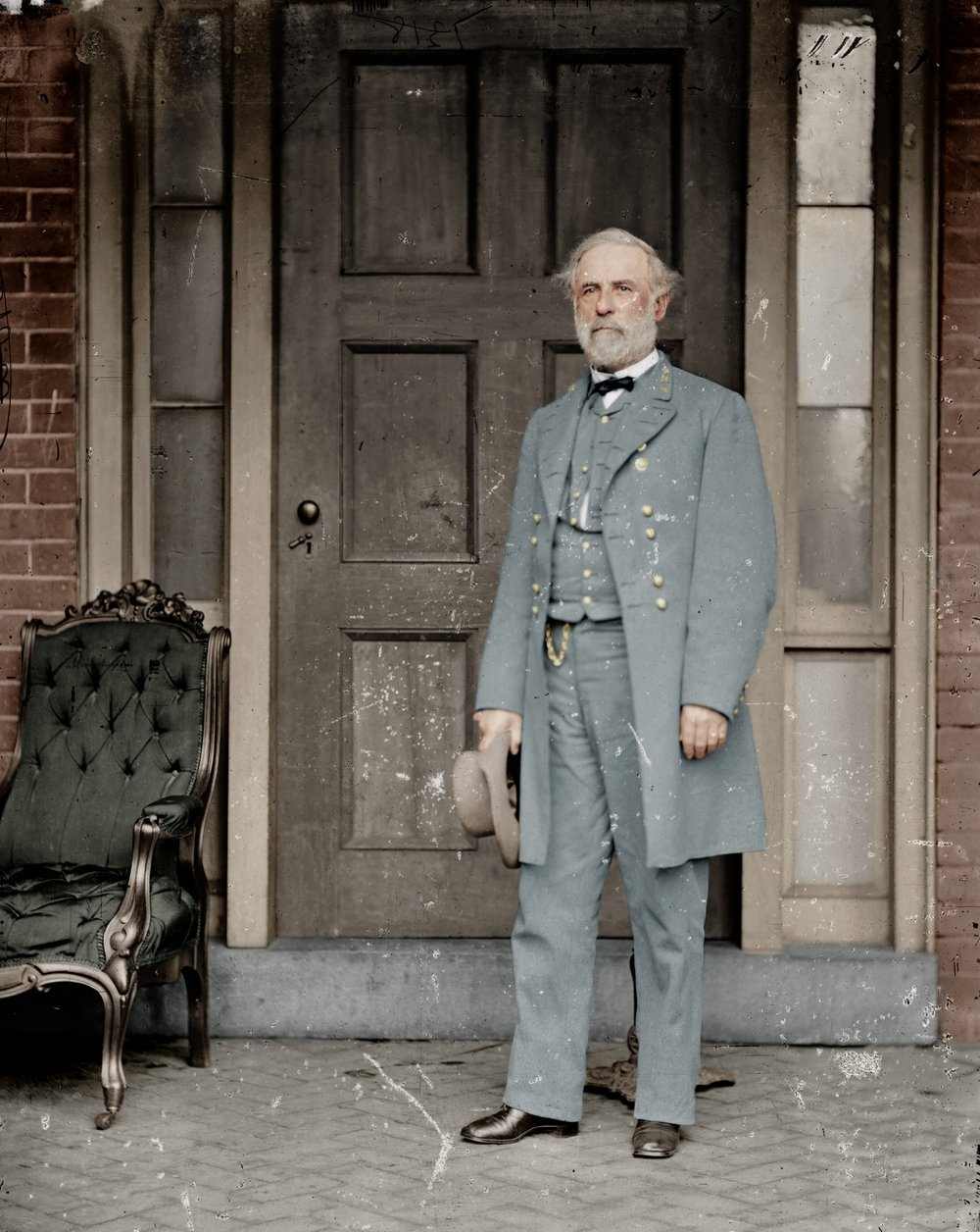 General Robert E. Lee, C.S.A., a week after surrendering the Army of Northern Virginia to General Ulysses S. Grant, effectively ending the American Civil War - April 16, 1865 - Mads.jpg