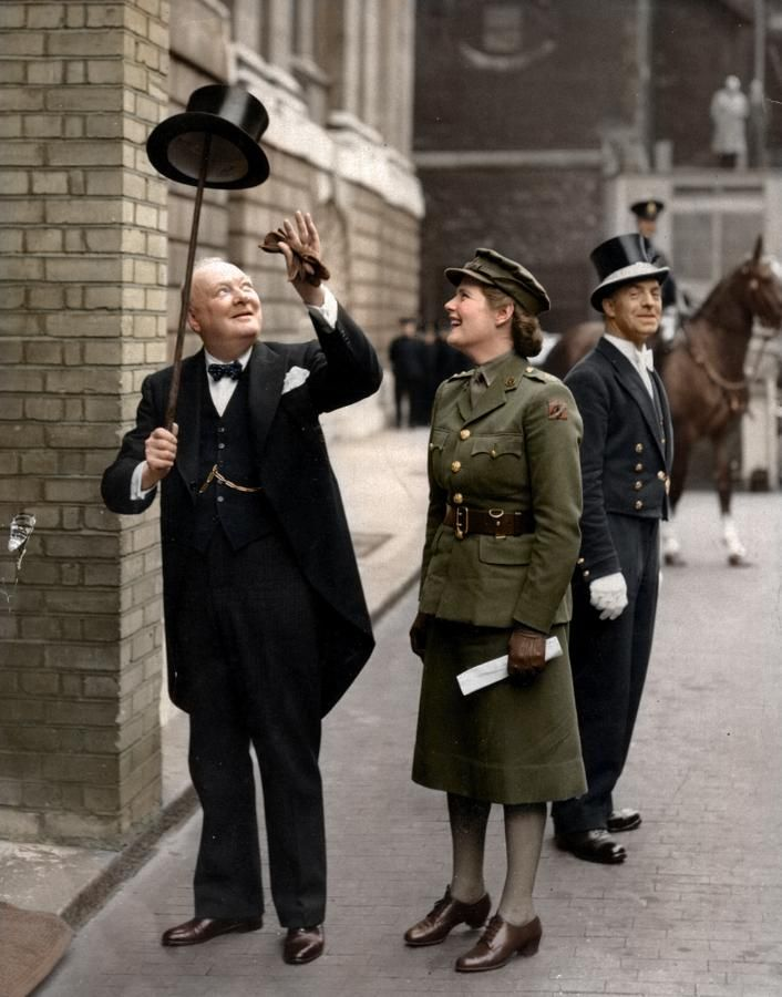 Winston Churchill with his Daughter Mary (Soames) Spencer-Churchill, 1943