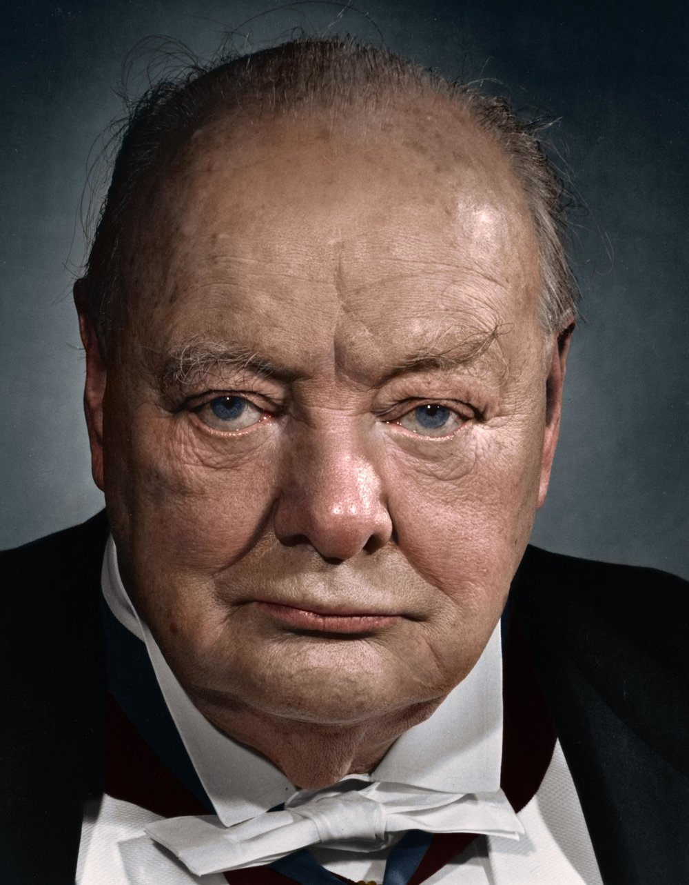 Winston Churchill at the age of 82, 1956