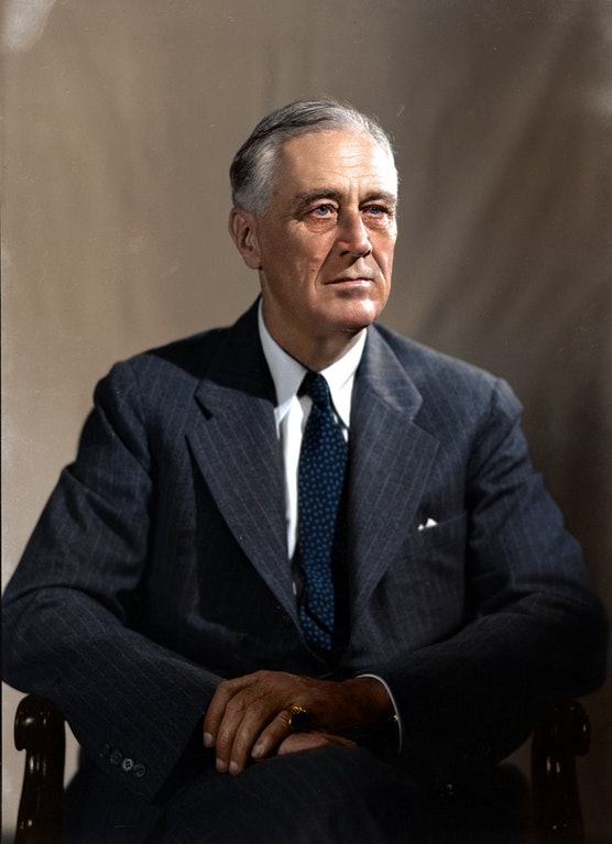 Franklin D. Roosevelt, 32nd President of the United States, 1933-1945
