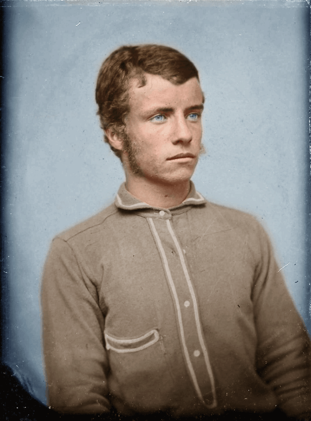 A young Theodore Roosevelt Jr. He was 17 at the time of this picture in 1875. Colorization by  Xander-Lionheart