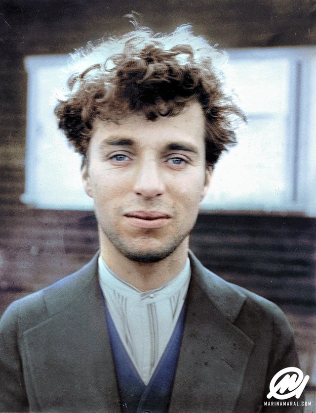 Charlie Chaplin at the age of 27 in 1916.