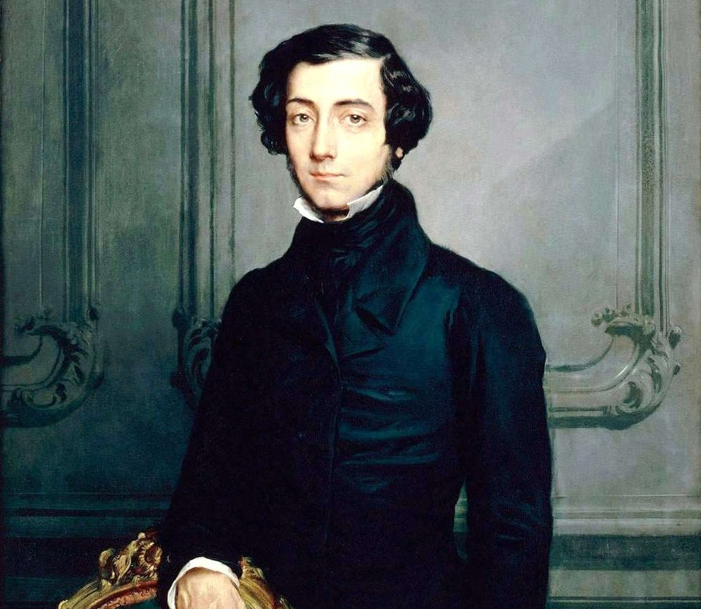 An 1850 painting of Alexis de Tocqueville, famous French diplomat, political scientist and historian who was the author of   Journeys to England and Ireland   which commented on the living and working conditions in Great Britain.