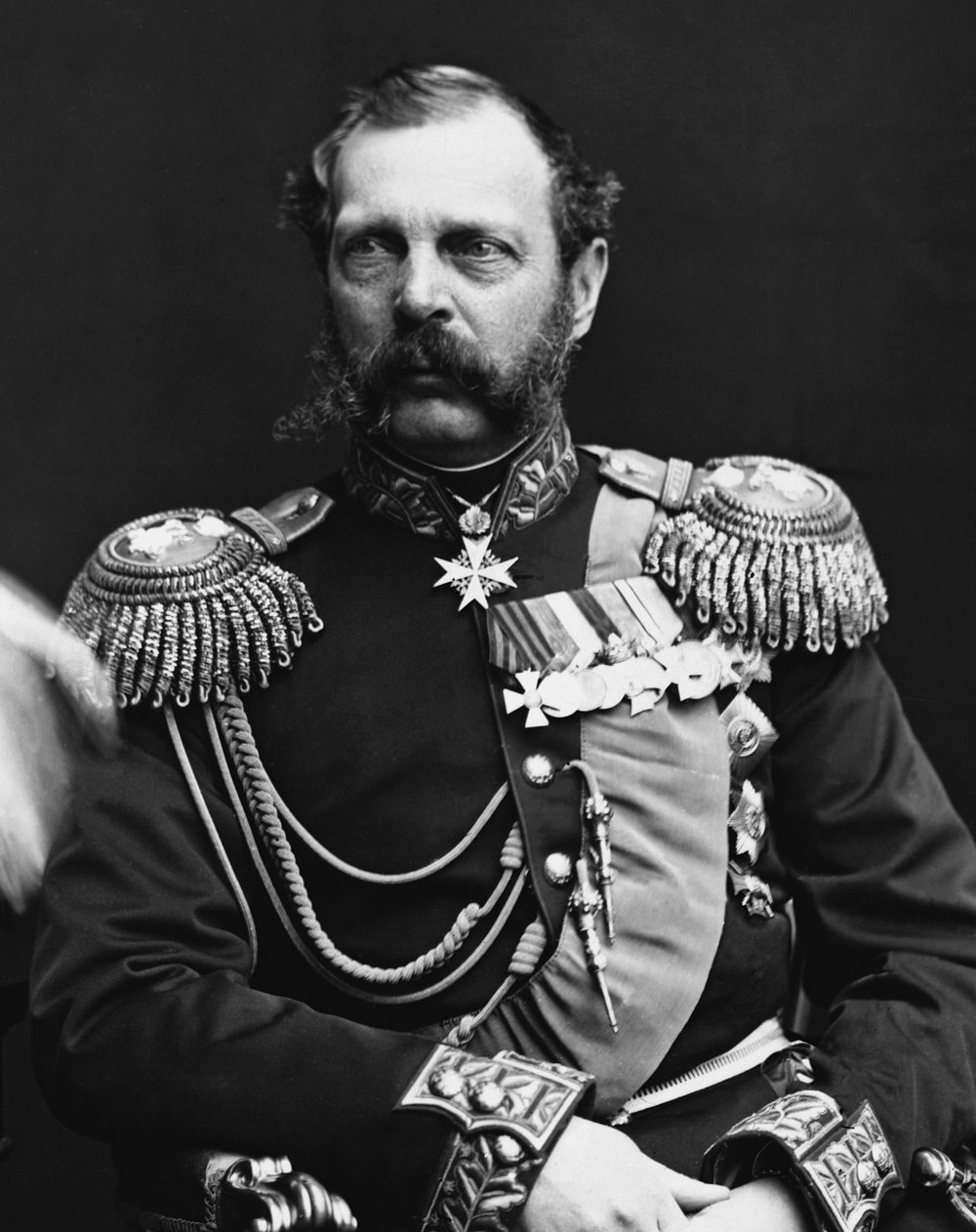 Tsar Alexander II of the Russian Empire. He reigned as Emperor from 1855 until 1881 when he was assassinated. He is best known for his Emancipation Edict which freed the serfs in the Russian Empire.