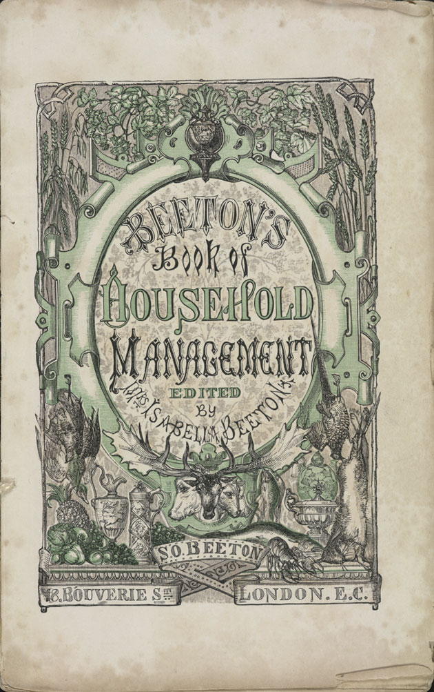 The title page of Isabella Beeton's 'Book of Household Management' that was released in 1861.