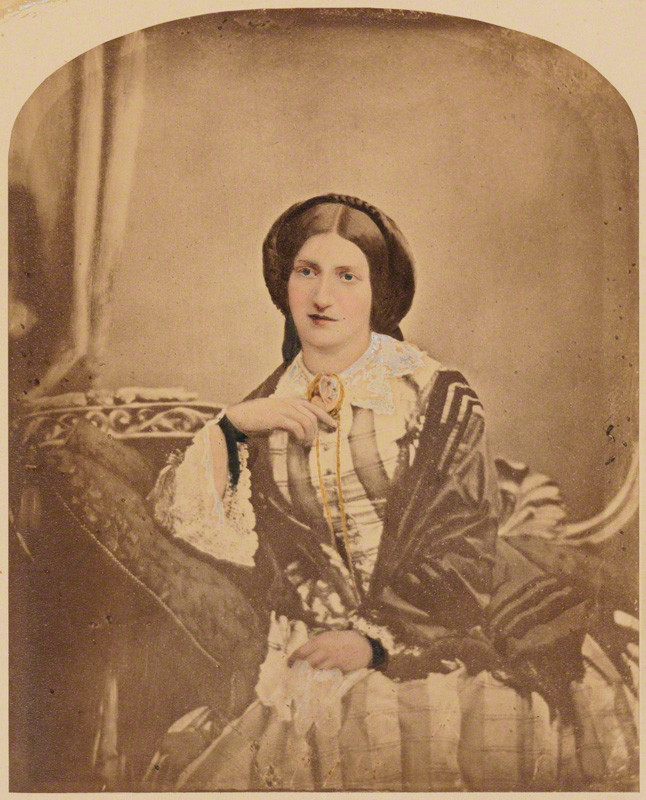 A photograph of Isabella Beeton, the author or the 'Book of Household Management'. Photograph taken in c. 1854.