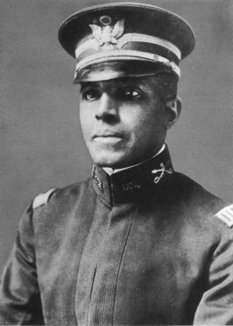 A photograph of Captain Charles Young in 1903.