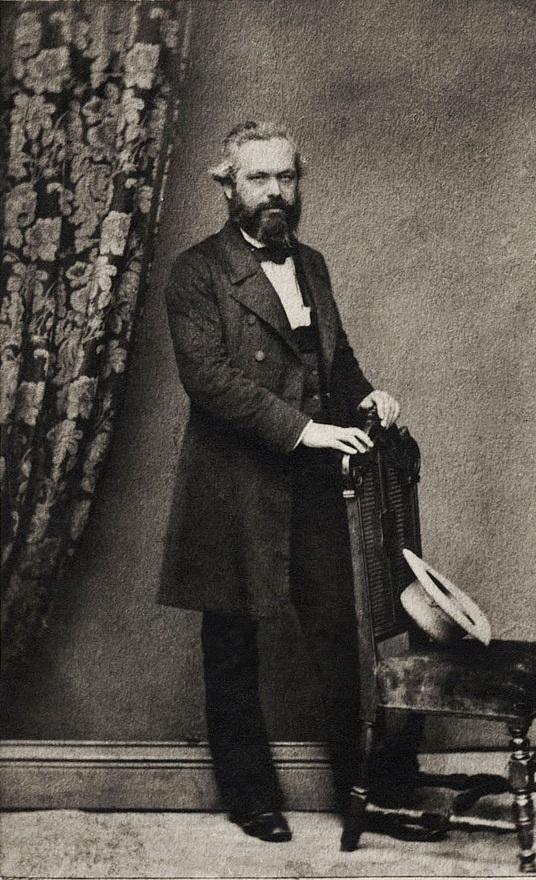 A 43-year-old Karl Marx in 1861.
