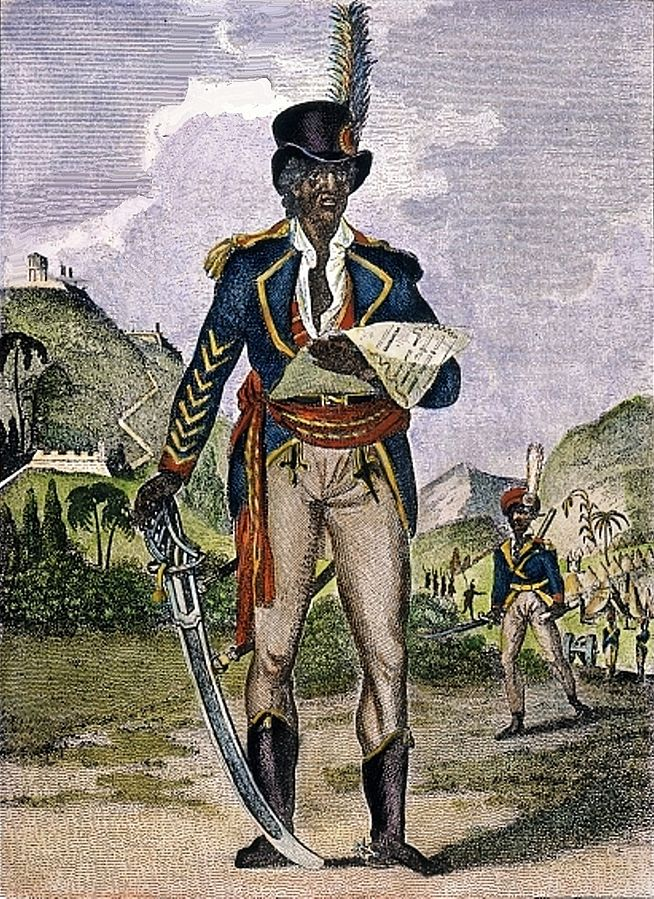 An 1805 engraving of Touissant Louverture.