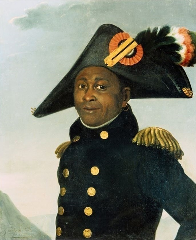 A painting of Touissant Louverture in Nantes between 1804 and 1805. Painting by Girardin