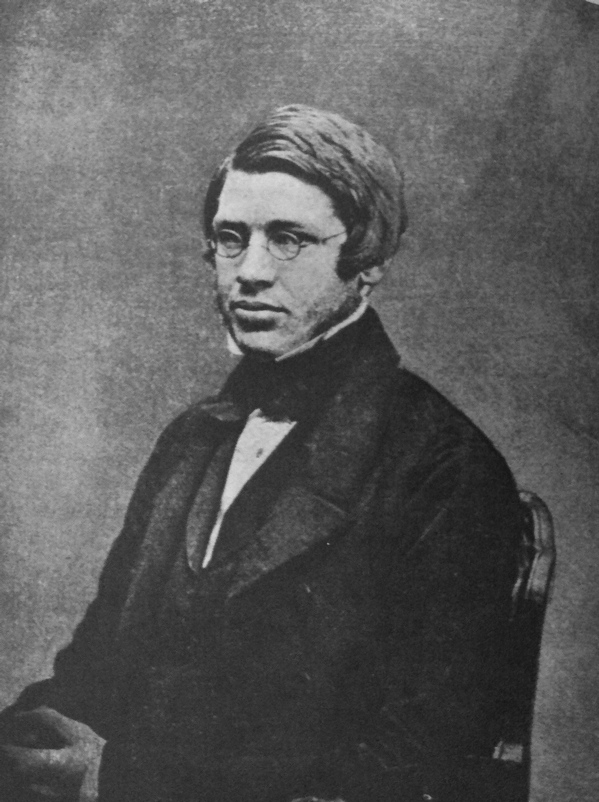 A photograph of Alfred Russel Wallace in 1848.