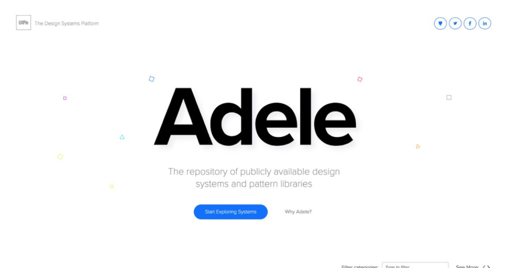 Adele - UXPin - Adele is a library of different design systems and pattern libraries. I used this to compile what companies prioritized in their designs and learned how I can apply these practices into STATS.Link: Website