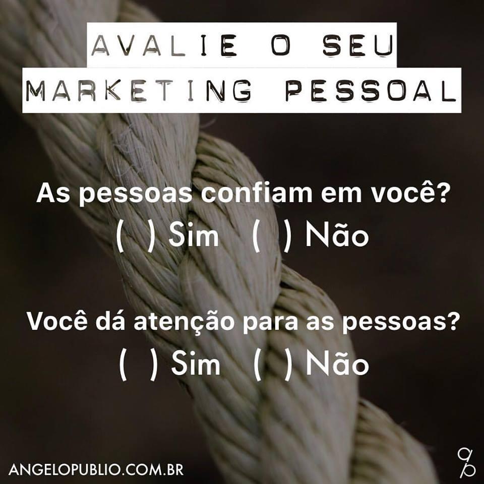 Avalie o seu Marketing Pessoal