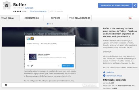 Buffer - Google Chrome Extension