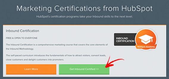 Certificado Internacional HubSpot de Inbound Marketing - Passo 1