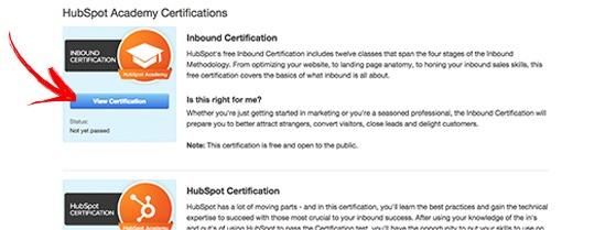 Certificado Internacional HubSpot de Inbound Marketing - Passo 3