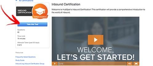 Certificado Internacional HubSpot de Inbound Marketing - Passo 4