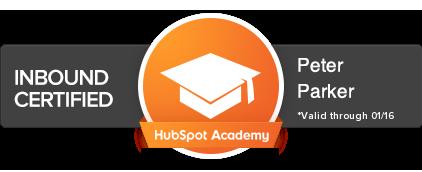 Certificado Internacional HubSpot de Inbound Marketing