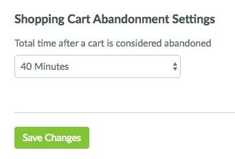 Configuração no SharpSpring da condição de abandono de carrinho
