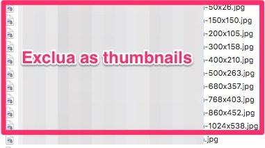 Exclua as thumbnails (miniaturas) antes de copiar as imagens do wordpress para o HubSpot Marketing