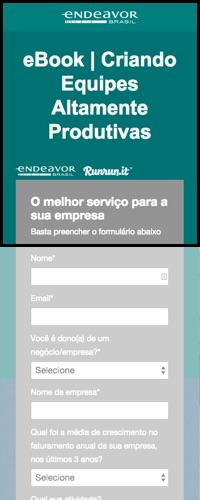 Teste B: Exemplo de landing page responsiva: Título, formulário, descrição da oferta e benefícios