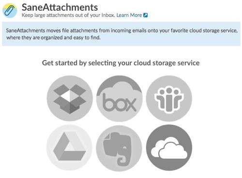 Exporte automaticamente os anexos dos seus emails para a nuvem