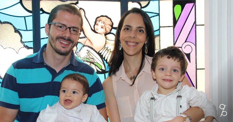 Família Públio: Angelo, Paula, Luigi e Lorenzo.