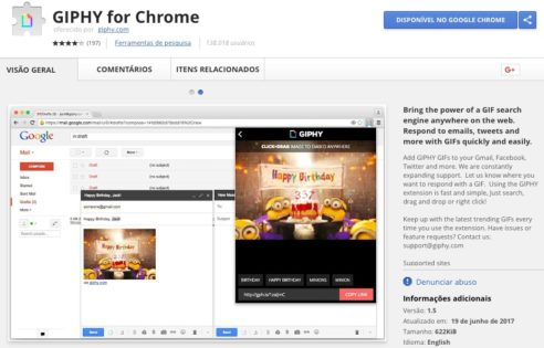 GIPHY for Chrome - Google Chrome Extension