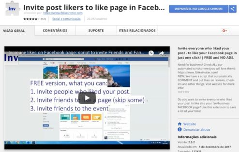 Invite Post Likers to like page in Facebook - Google Chrome Extension