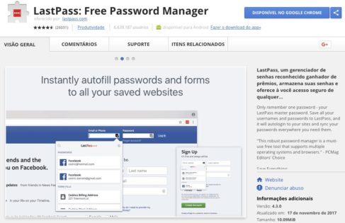 LastPass: Free Password Manager - Google Chrome Extension